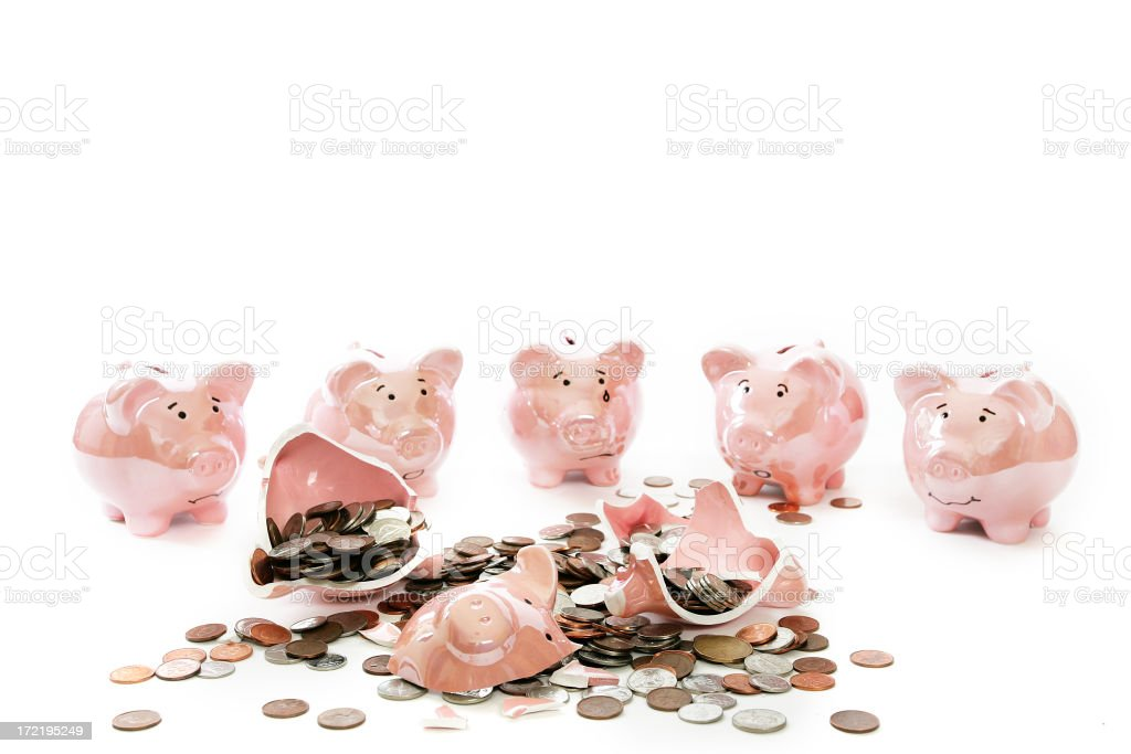 Poor Little Piggy royalty-free stock photo
