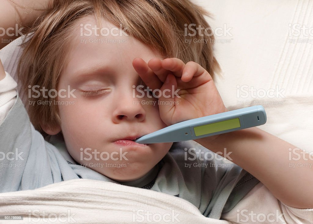 Poor Little Sick Boy royalty-free stock photo