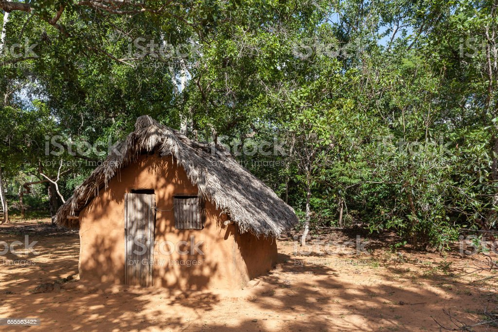 Poor mud house, typical of north of Brazil - Carolina, Maranhao State stock photo