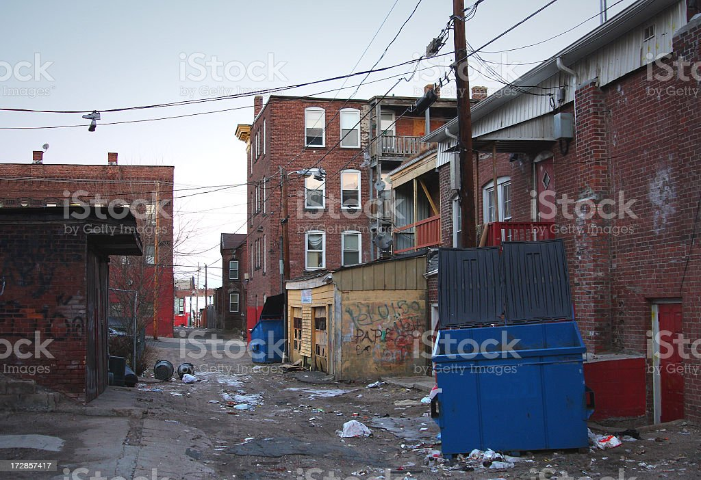 Poor Neighborhood stock photo