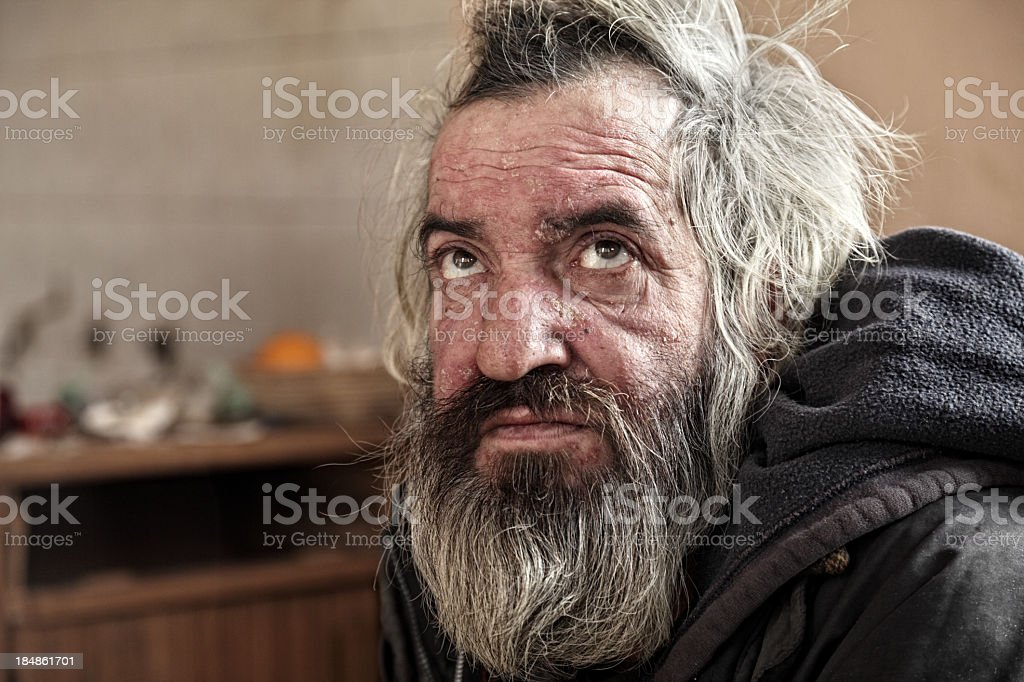 Poor old man royalty-free stock photo