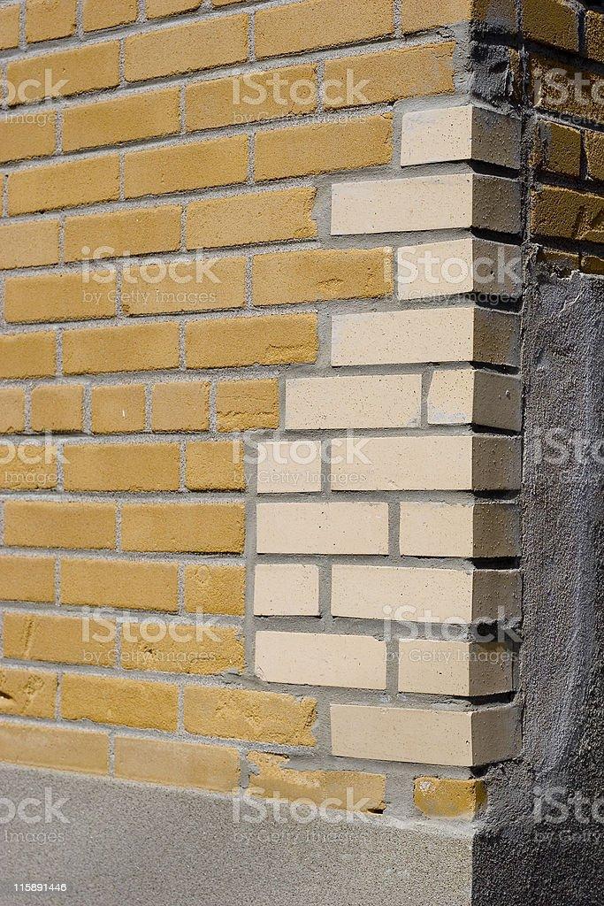 Poor quality brick repair royalty-free stock photo