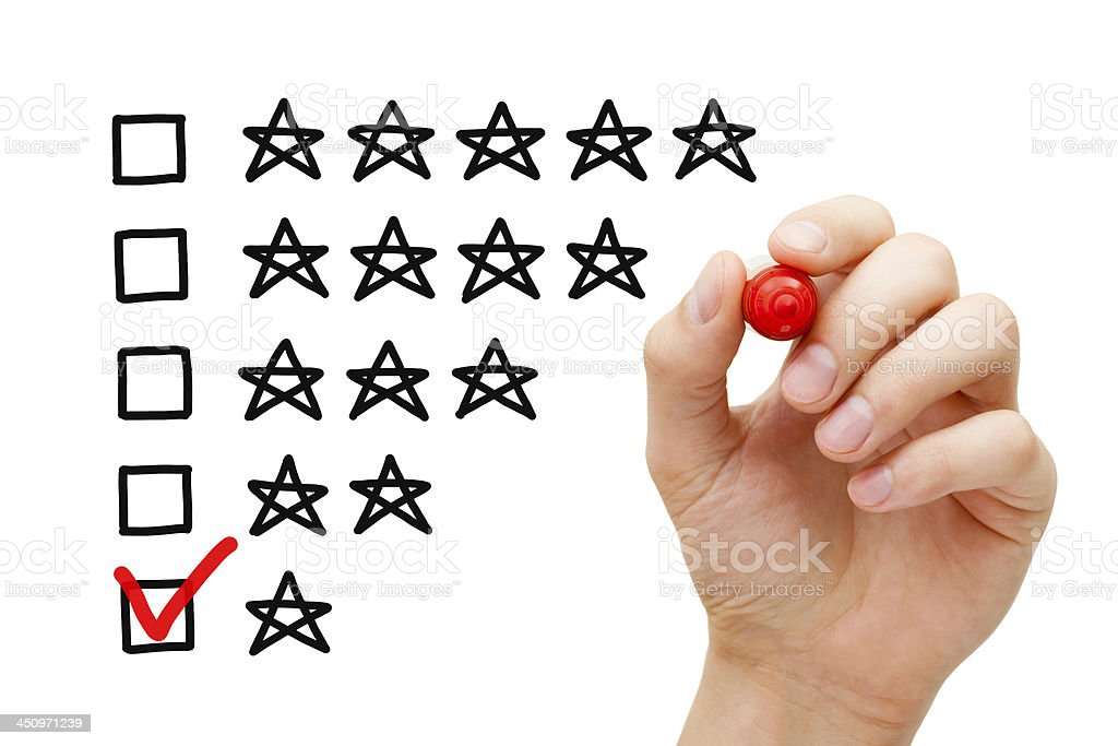 Poor Rating stock photo