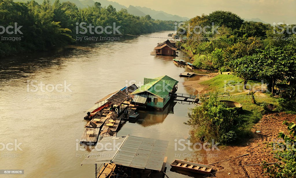 poor rural areas of Thailand stock photo