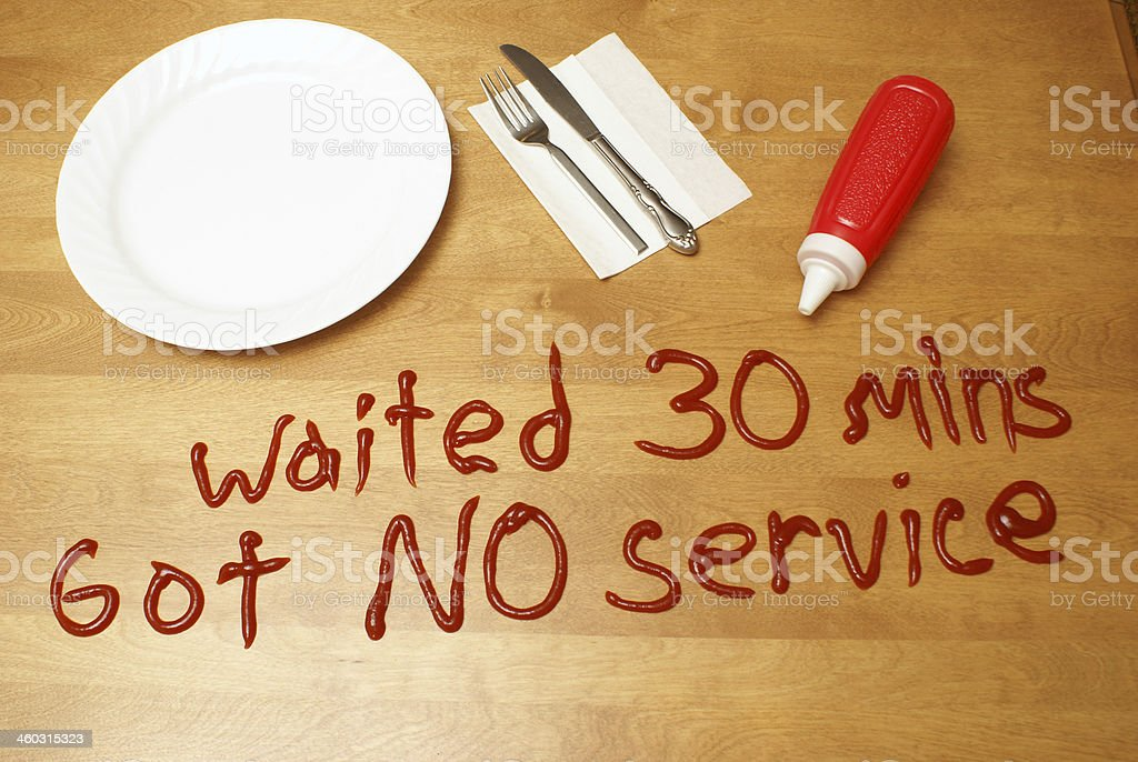 Poor Service stock photo