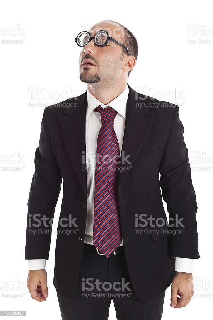 Poor Sight Businessman stock photo