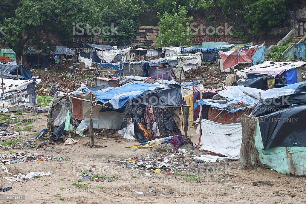 Poor slum stock photo