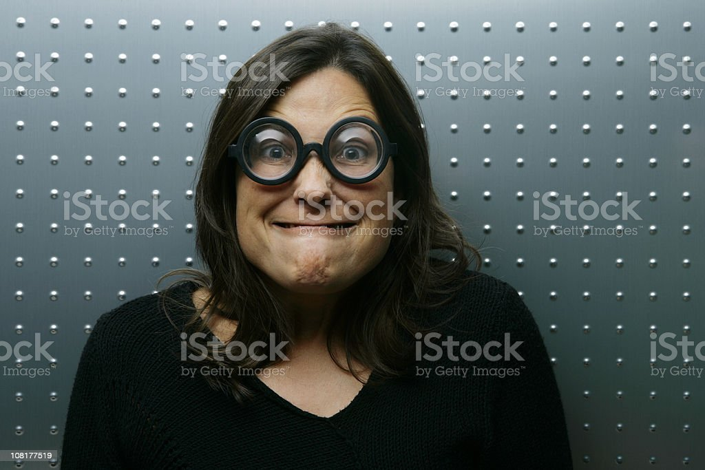 Poor ugly woman royalty-free stock photo