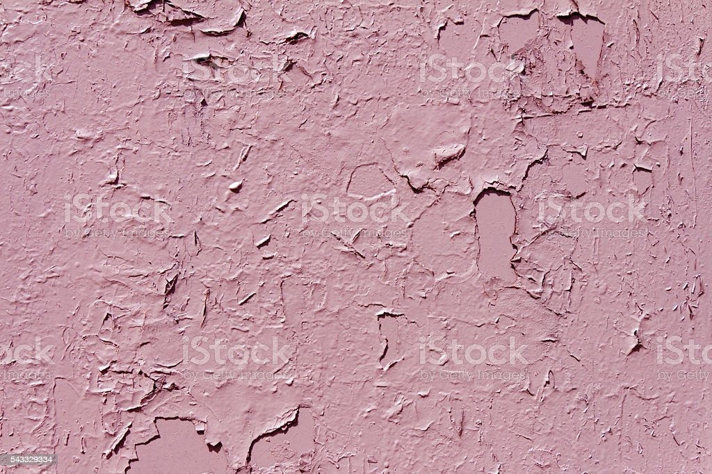 Poorly painted surface (in all the cracks and irregularities) pi stock photo