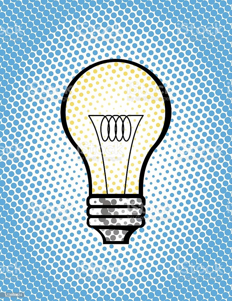 pop art lightbulb stock photo