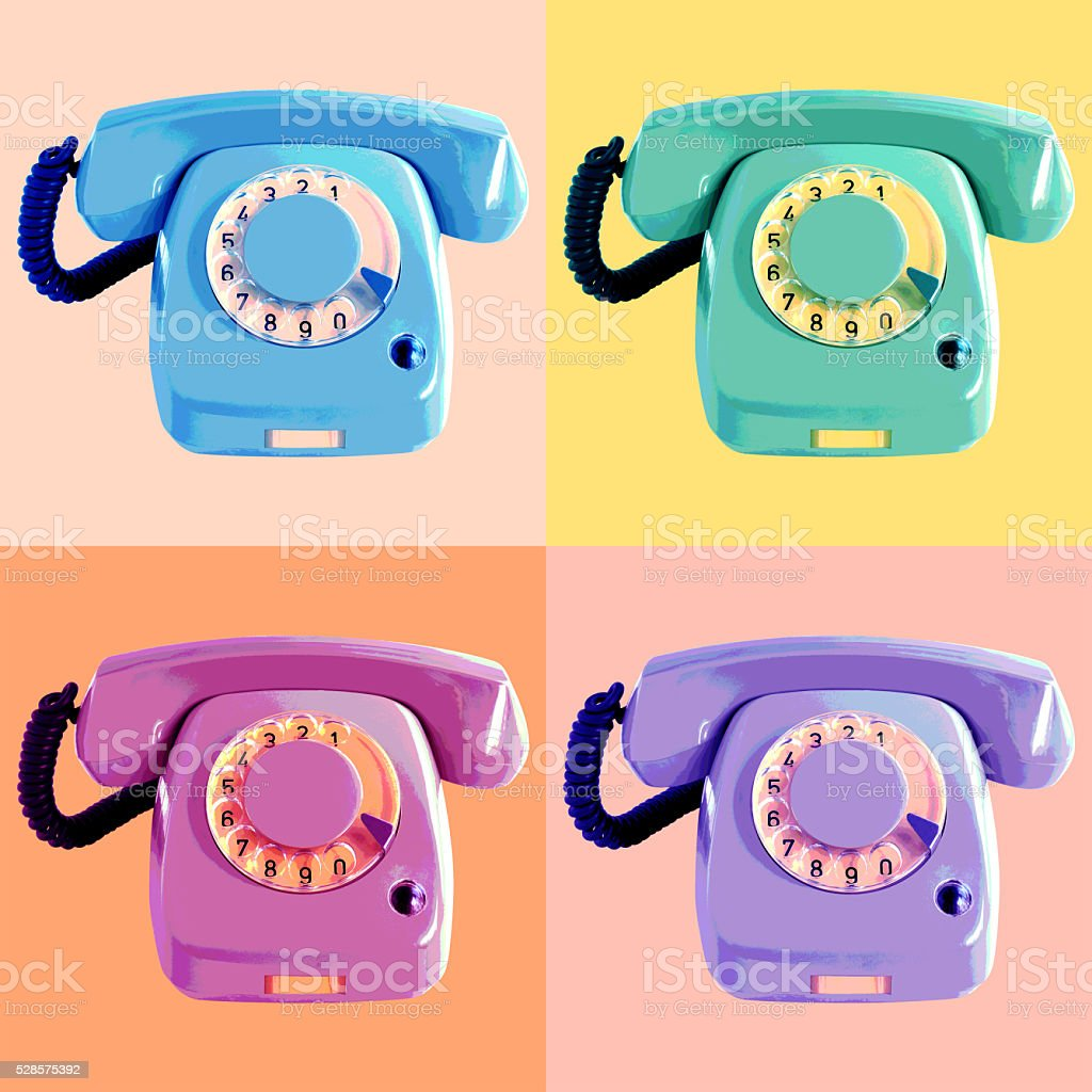 Pop Art Phone Poster stock photo