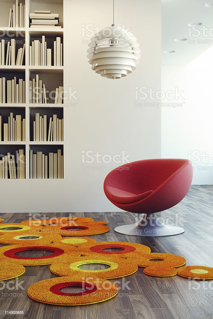 pop art style of lounge room royalty-free stock photo