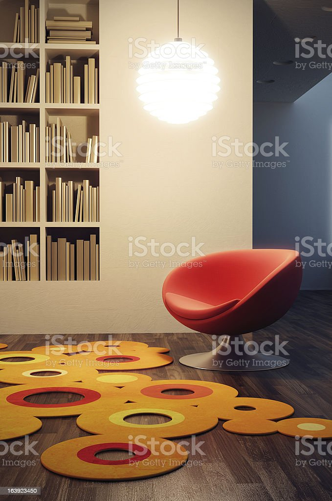 pop art style of lounge room royalty-free stock vector art