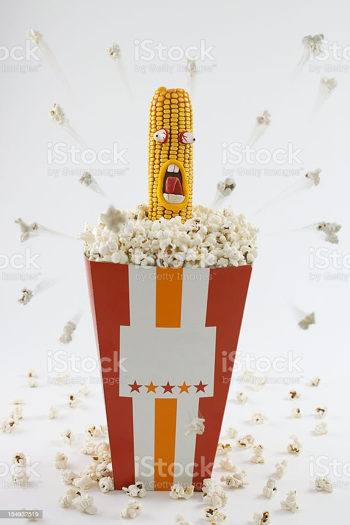 Pop corn explosion royalty-free stock photo