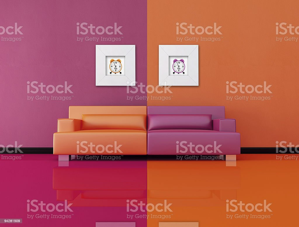 pop-art lounge stock photo