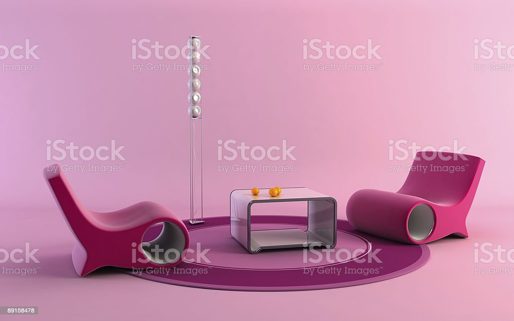 pop-art style interior royalty-free stock photo