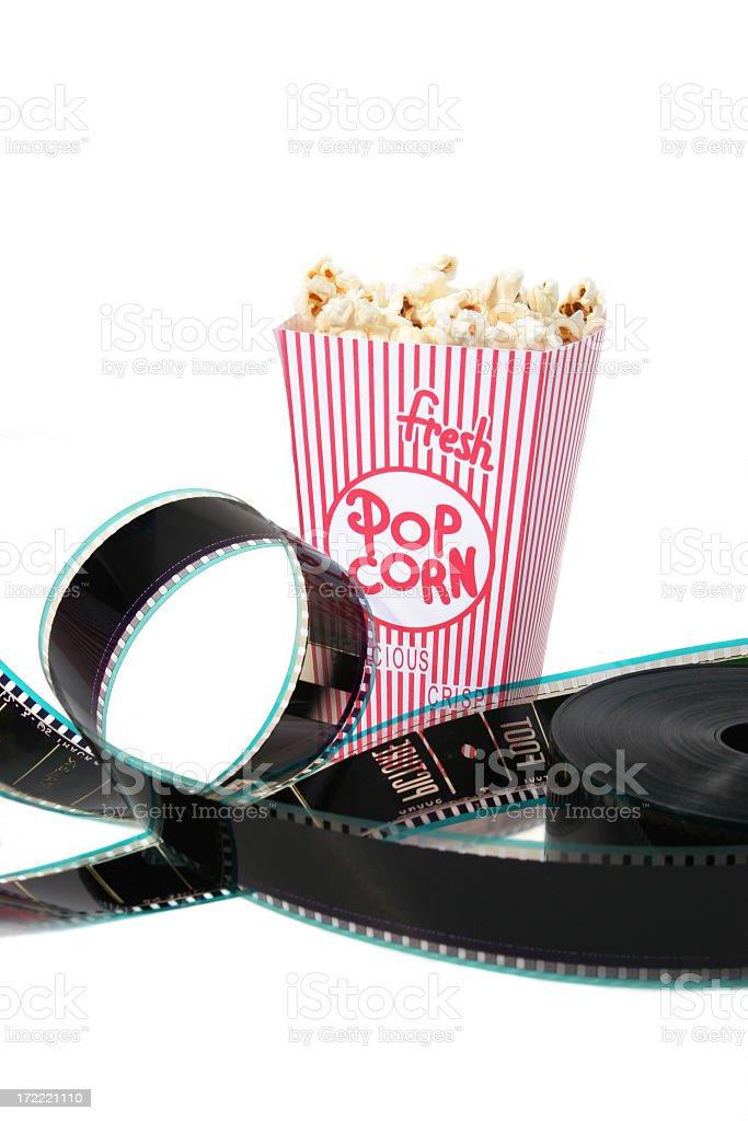 Popcorn and film royalty-free stock photo