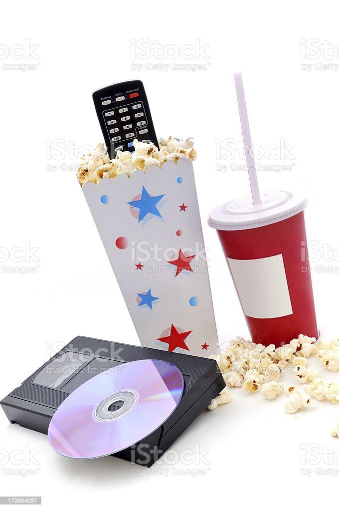 popcorn and movie royalty-free stock photo