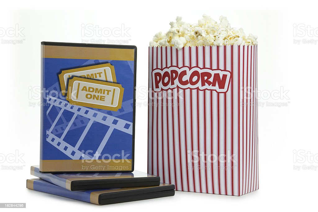 Popcorn and Movies royalty-free stock photo