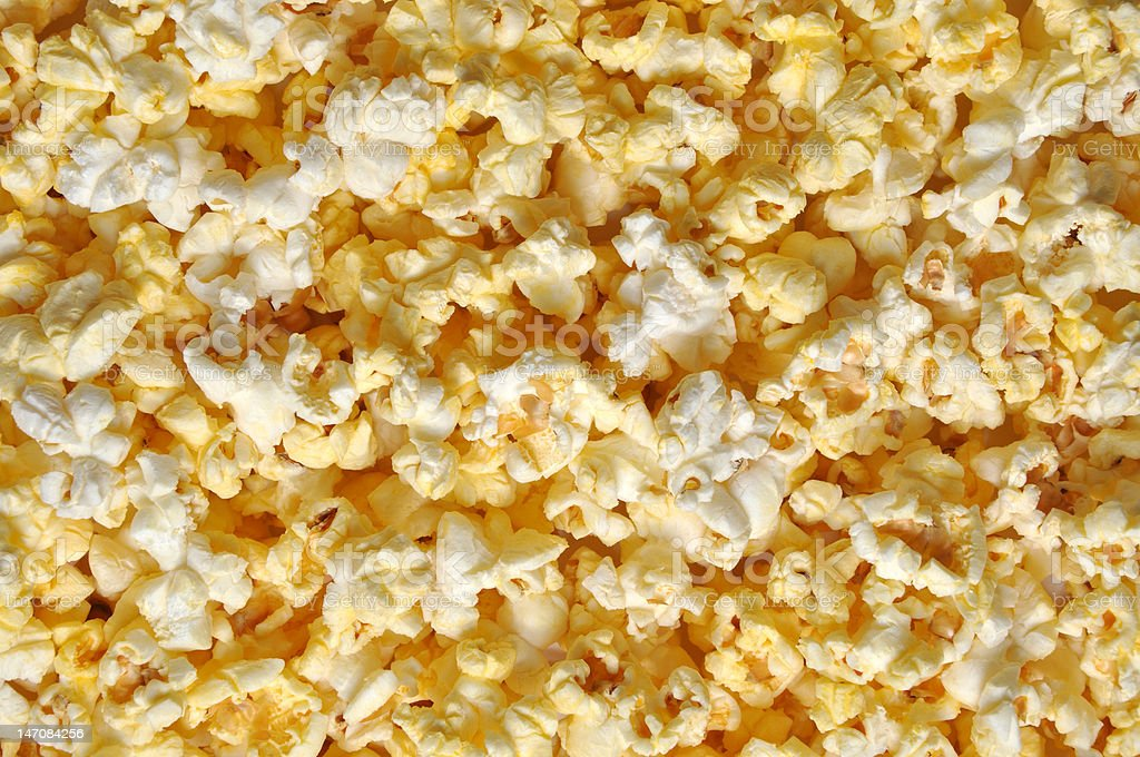 Popcorn Background stock photo