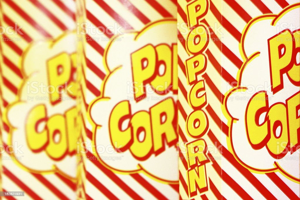 Popcorn Box Snack Advertising royalty-free stock photo