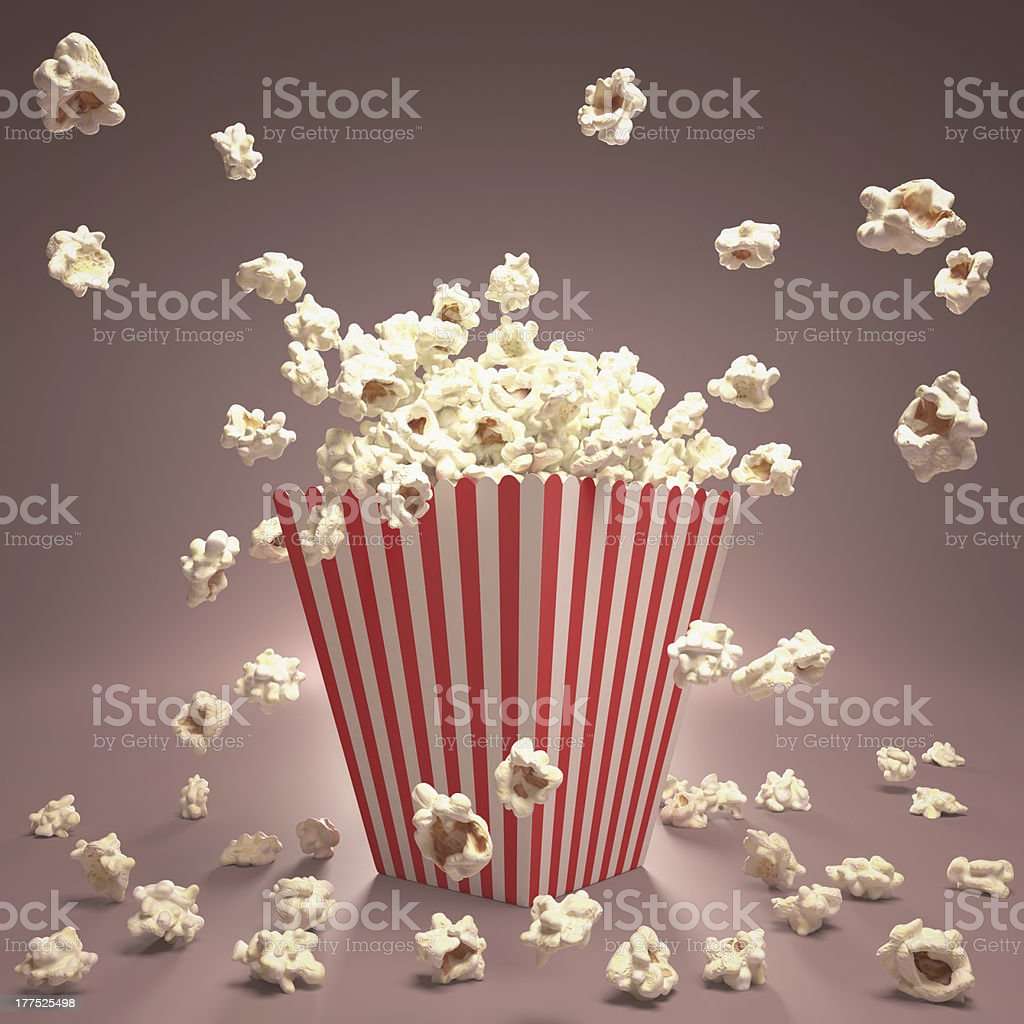 Popcorn Flying stock photo