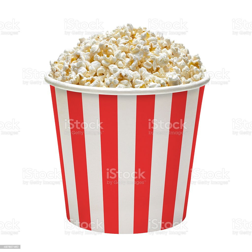 Popcorn in bucket stock photo