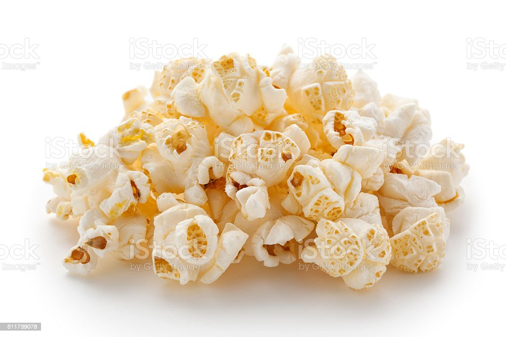 Popcorn in heap stock photo