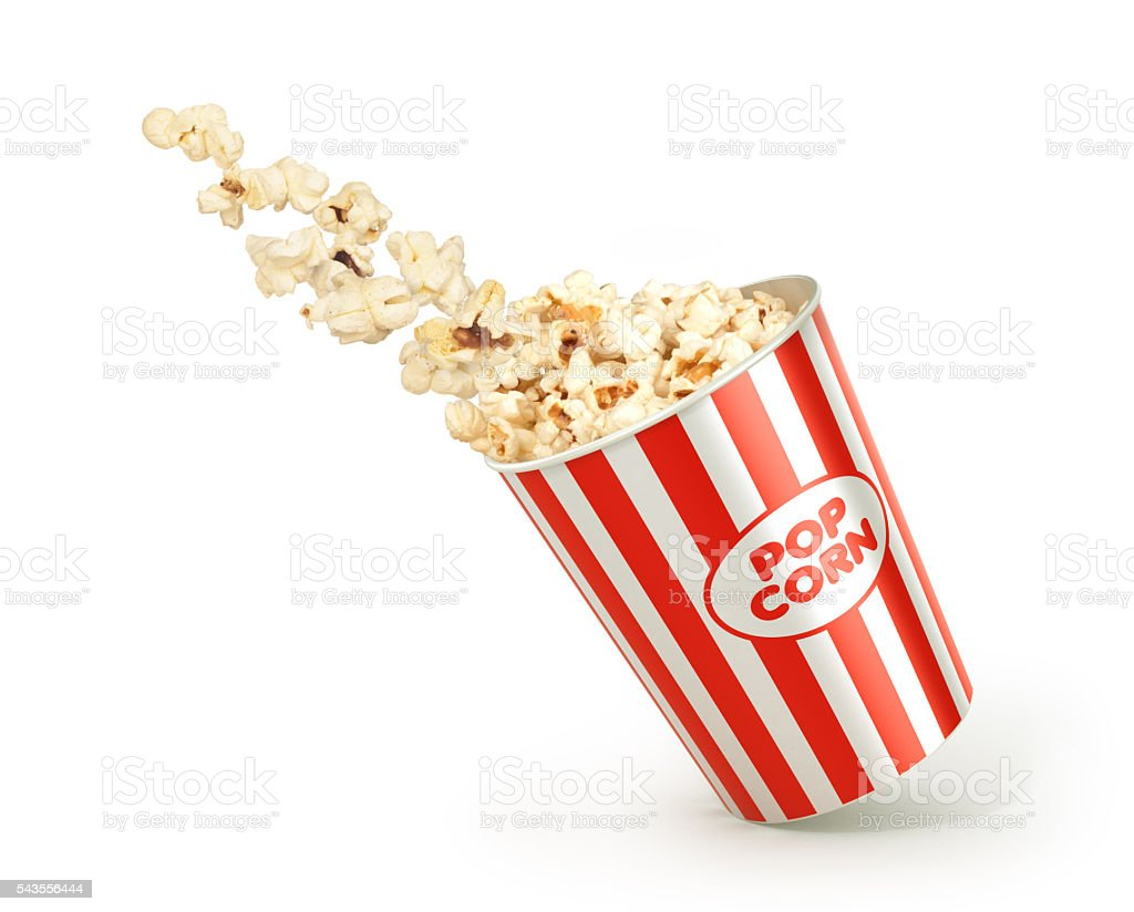 popcorn in the package stock photo