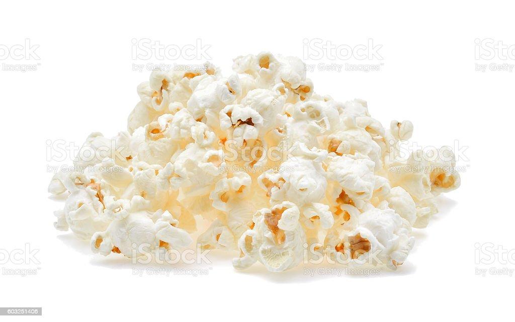 Popcorn isolated on the white background stock photo