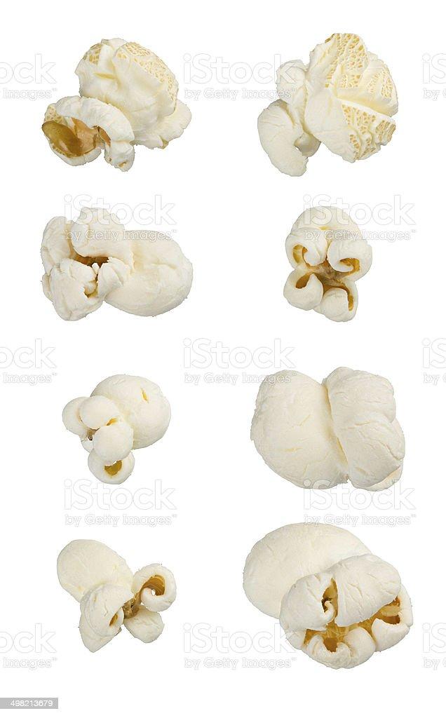 Popcorn isolated on white. stock photo