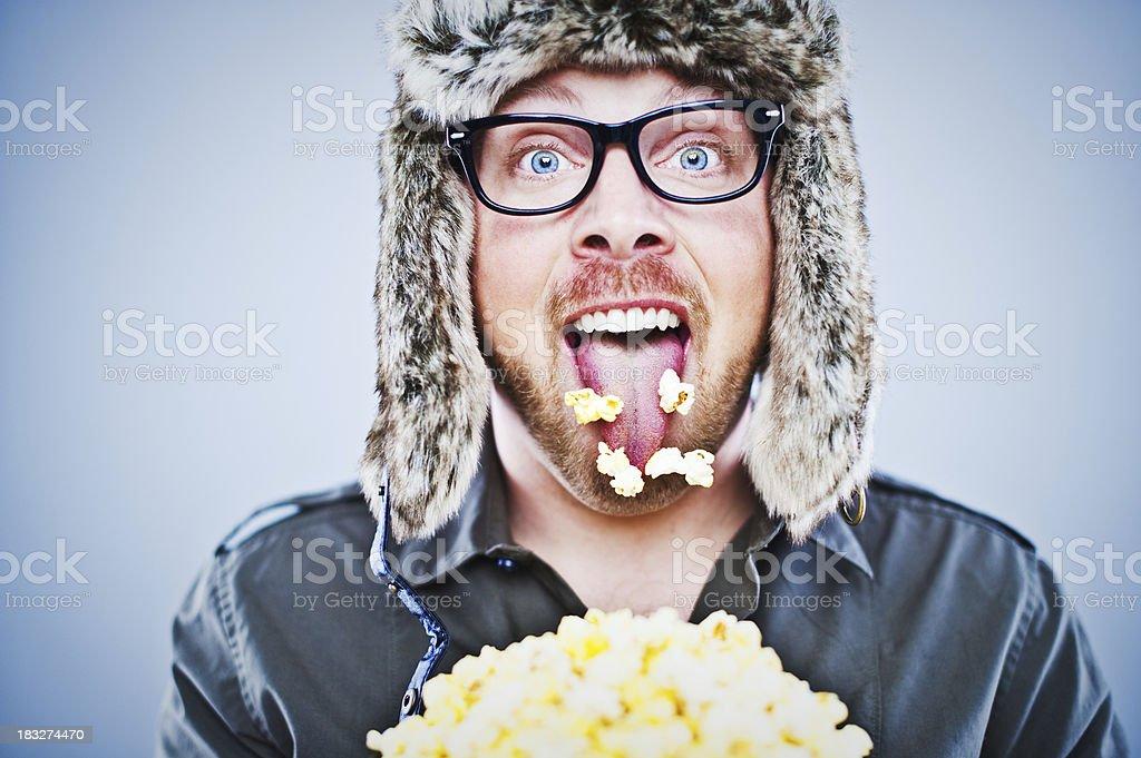 Popcorn man royalty-free stock photo