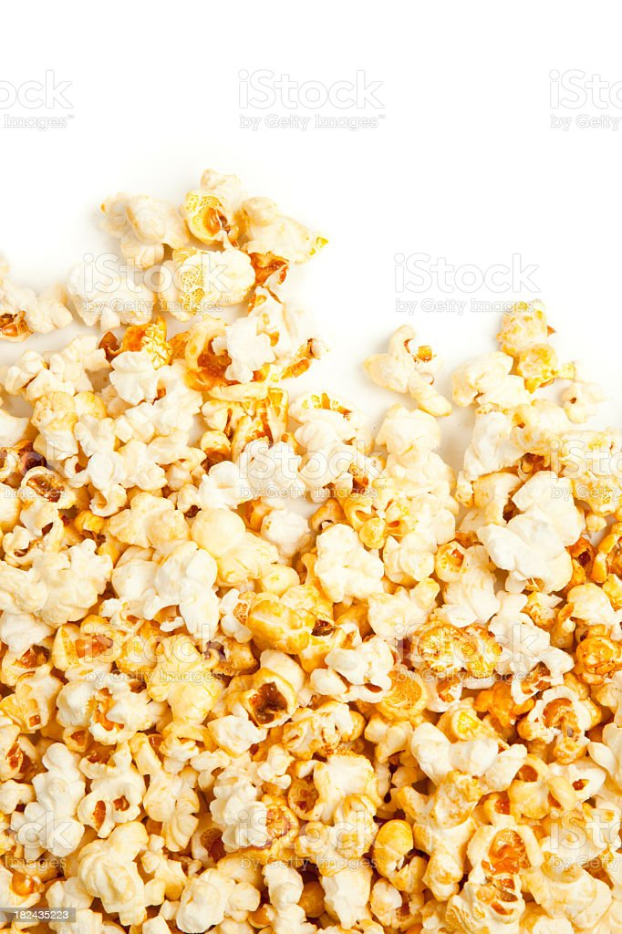 Popcorn over copy space stock photo