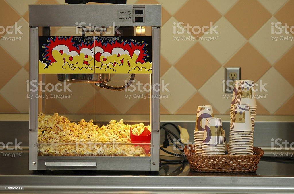 popcorn popper stock photo
