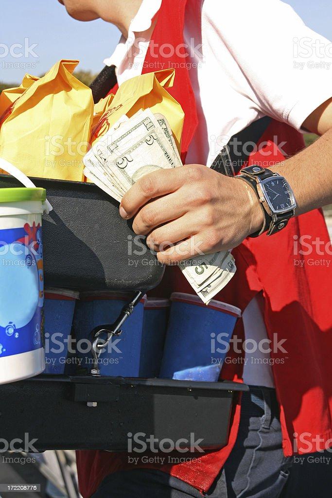 Popcorn & Soda Vendor stock photo