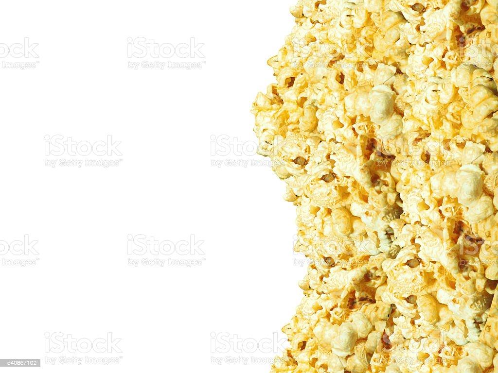 Popcorn texture background stock photo