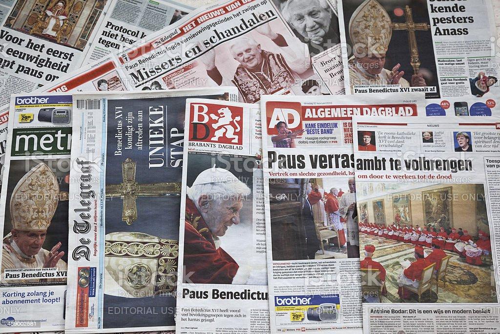 Pope Benedict XVI announces resignation # 1 XXXL royalty-free stock photo