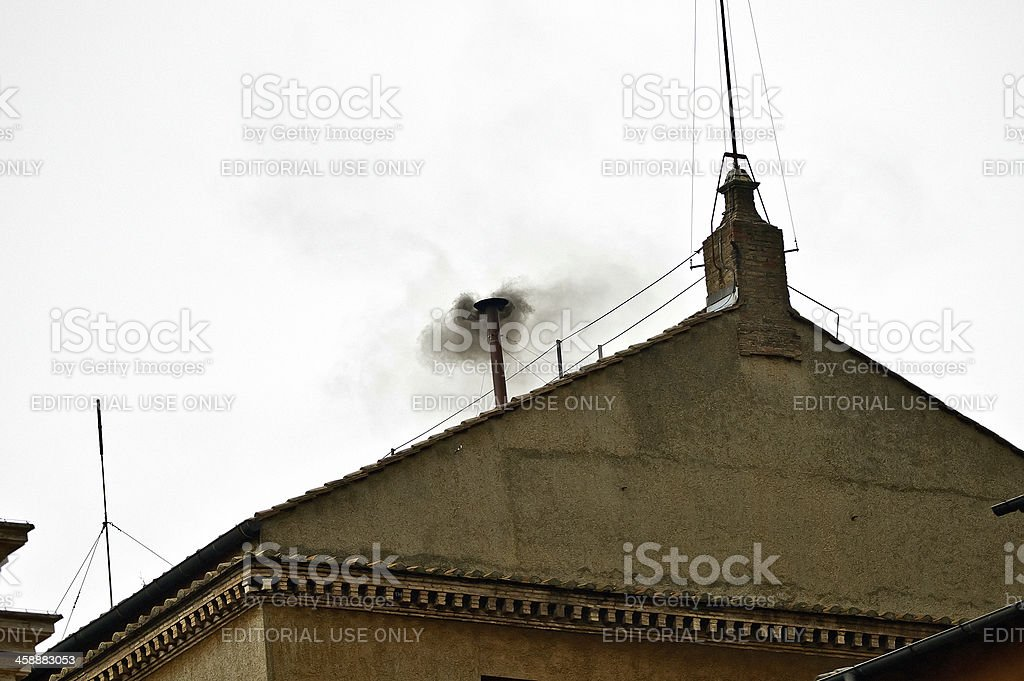 Pope Conclave's royalty-free stock photo