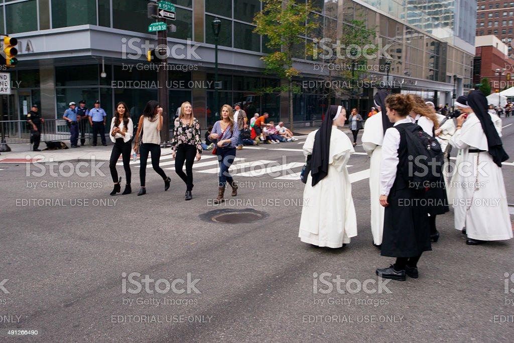 Pope Francis Historic U.S. Visit - Philadelphia stock photo