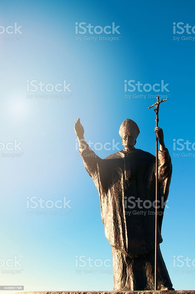 Pope John Paul II stock photo