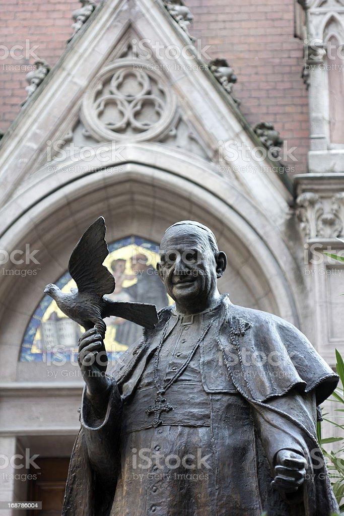 Pope John XXIII statue in istanbul royalty-free stock photo