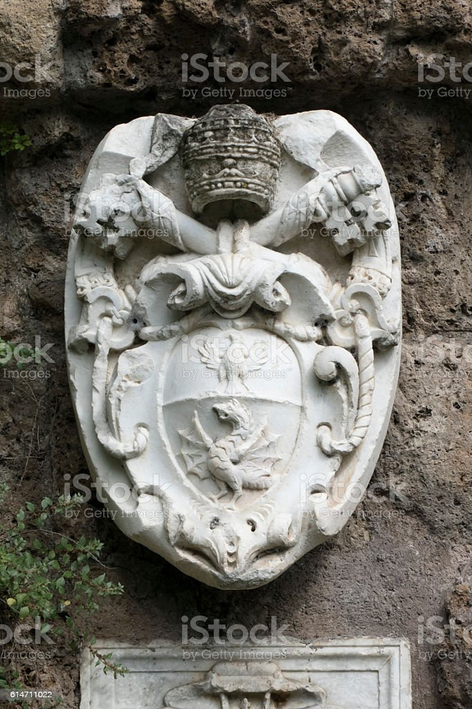 Pope Paul V - Coat of Arms stock photo