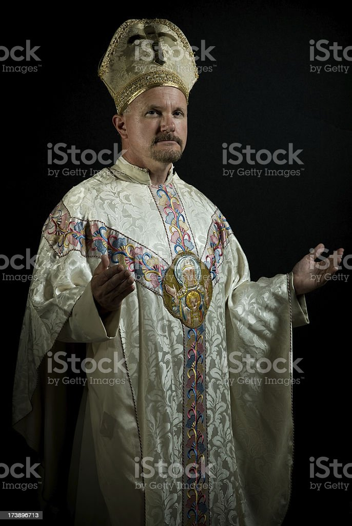 Pope praying royalty-free stock photo