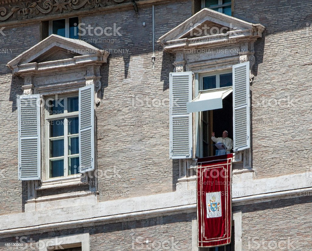 Pope speaking on the Feast of Saints Peter and Paul stock photo