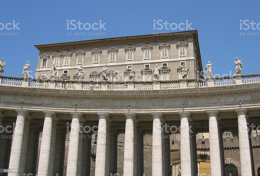Pope's Appartments, Vatican City stock photo