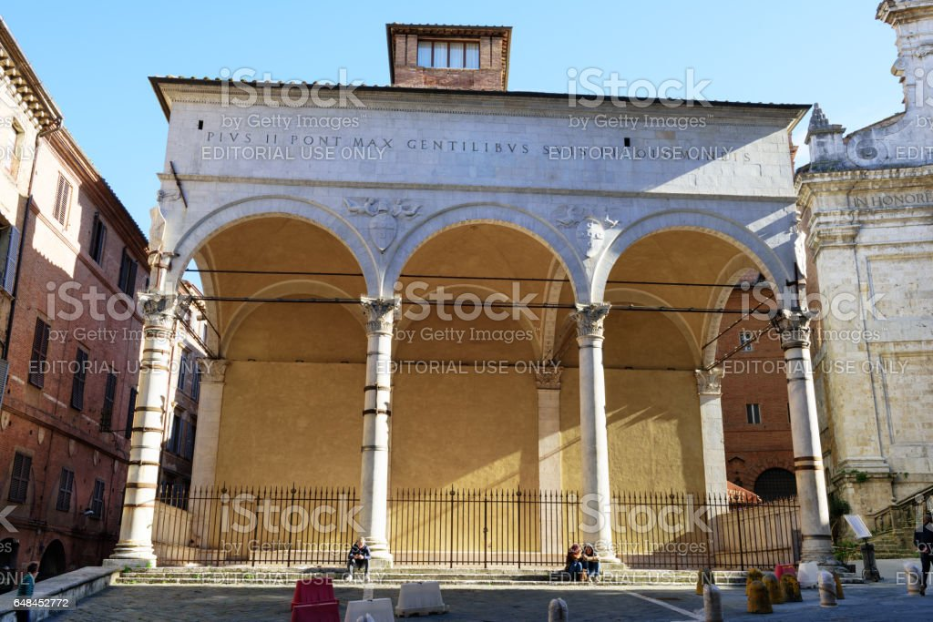 Logge del Papa in Siena, Italy stock photo