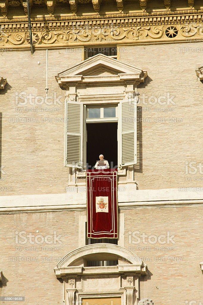 Pope's window stock photo