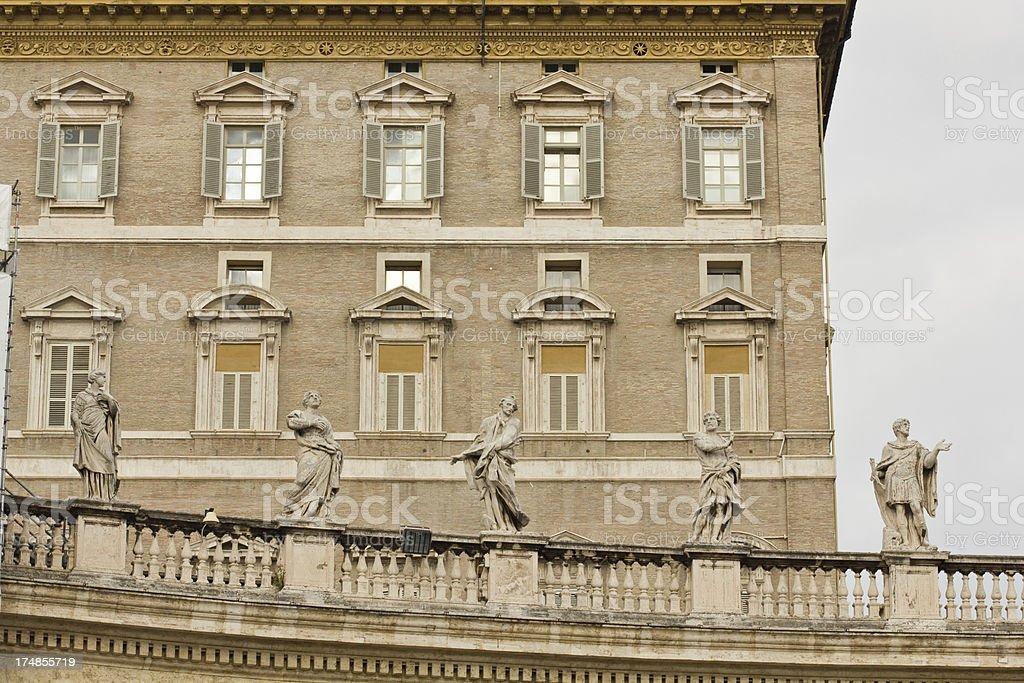 Pope's windows stock photo