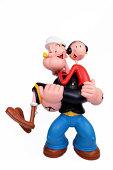 Popeye and Olive oyl.