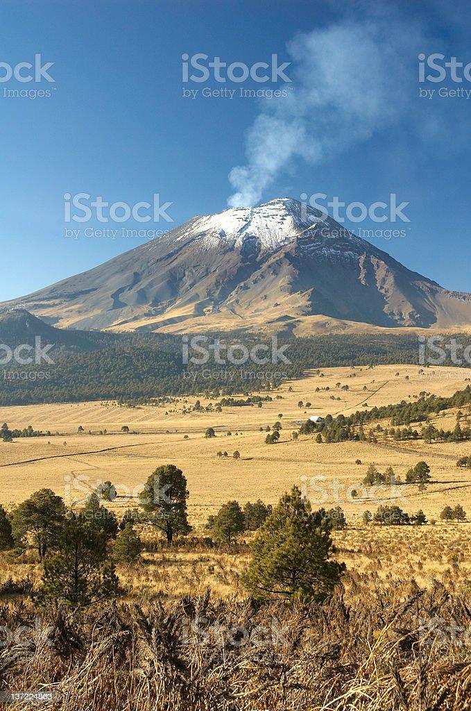 Popocapetl Volcano, Mexico stock photo